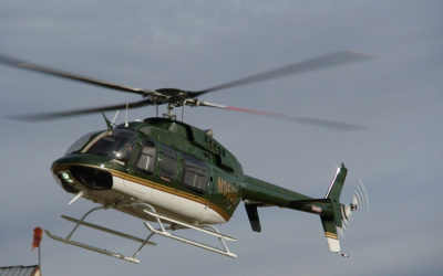 Harrison Ford's Bell 407GX at Heli-Expo 2014